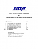 Small Boat Standards Committee (Updated 2016)