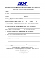 SBSA Application for Individual Membership