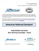 NASBLA Basic Boating Knowledge – Power