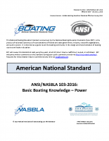 NASBLA Basic Boating Knowledge – Power