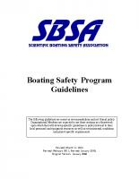 Boating Program Guidelines 2014
