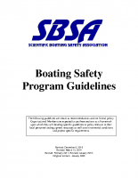 SBSA Boating Safety Guidelines 2016 Final