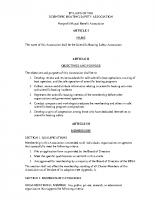 SBSA Organizational Bylaws (2011)