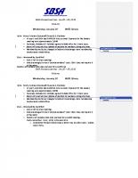 2015 SBSA Meeting Minutes