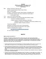 2011 SBSA Meeting Minutes