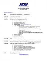 SBSA 2017 Meeting Agenda