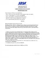 2014 SBSA Meeting Minutes