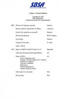 2008 SBSA Meeting Agenda