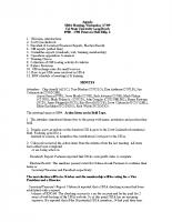 2009 SBSA Meeting Minutes
