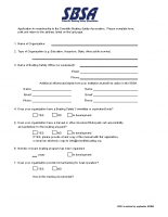 SBSA Membership Application Form