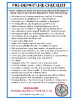 Boat Pre-Departure Checklist (Alternate)