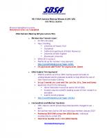 2017 SBSA Meeting Minutes