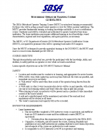 Motorboat Operator Training Course Guidelines