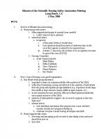 2006 SBSA Meeting Minutes