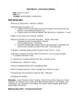 2007 SBSA Meeting Minutes